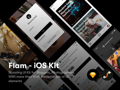 Flam UI Kit ios sketch flam design ux ui blog iphone ui kit