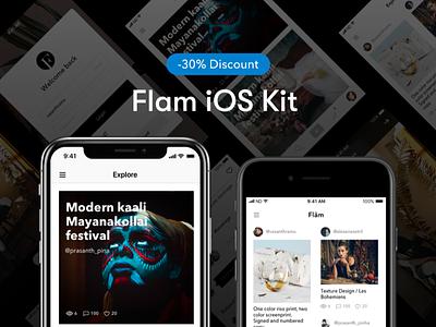 Flam UI Kit - Discount ux ui photography iphone ui kit