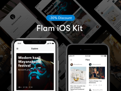 Flam UI Kit - Discount ux ui photography iphone ui kit
