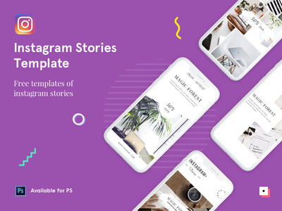 Free Instagram Stories - PSD Template photoshop stories ui template psd free instagram