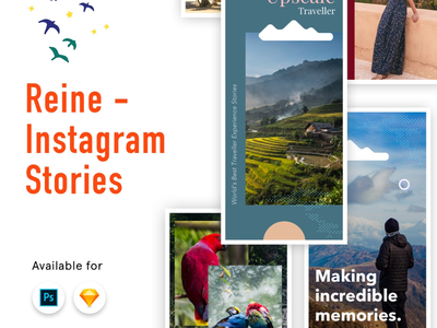 Instagram Stories templates sketch photoshop psd stories free ui instagram
