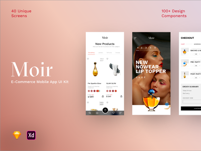 Ui Moir ecommerce design ecommerce app ux ui design ui kit