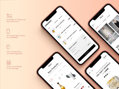 Moir - Ecommerce UI Kit design iphone ui kit ux ui