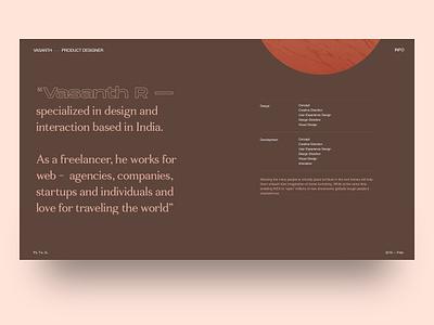About page - Portfolio portfolio design portfolio minimal website design ui