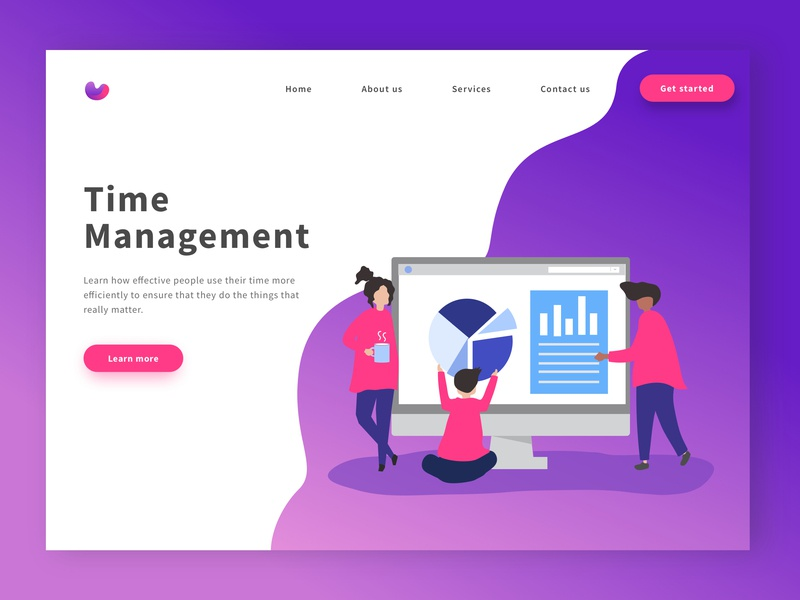 Website Landing Page gradients homepage illustration flat web landing page gradient website design ux ui