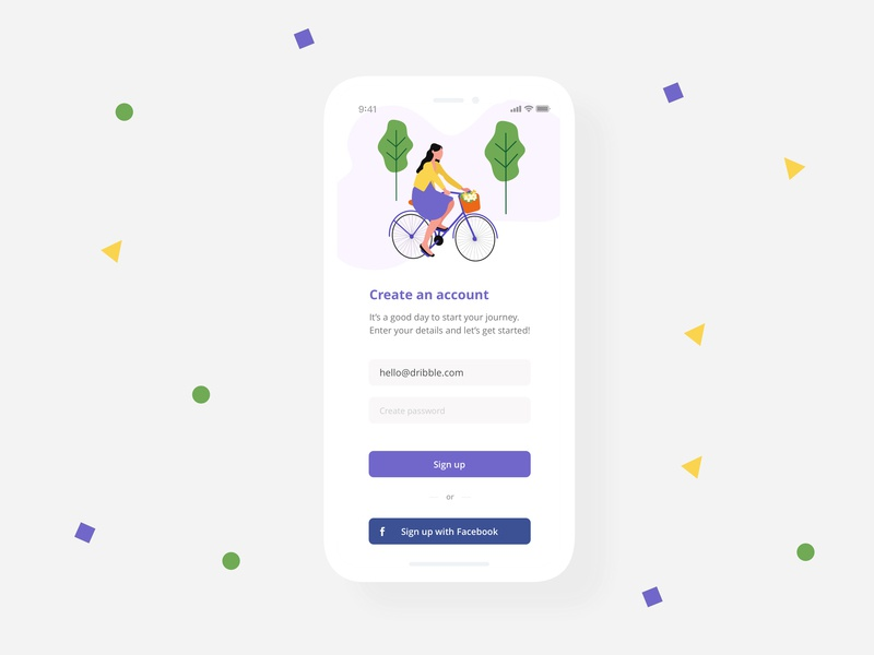 Sign up ux design mobile app design sign up form sign up screen intro screen app concept illustration flat app screen sign up app ui ux web design