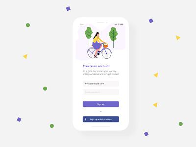 Sign up ux design mobile app design sign up form sign up screen intro screen app concept illustration flat app screen sign up app ui ux web design