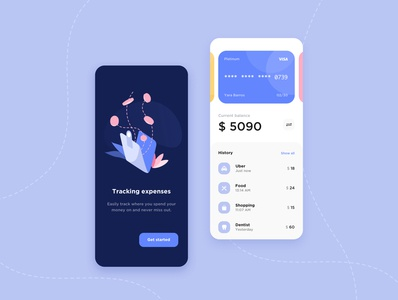 Bank App ui design bank account bank application bank card app ui app design banking app ux design banking app screen get started mobile app design app concept app ux ui design