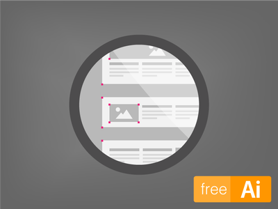 Content Layout Icons [Free Download] free freebie content layout icons download illustrator
