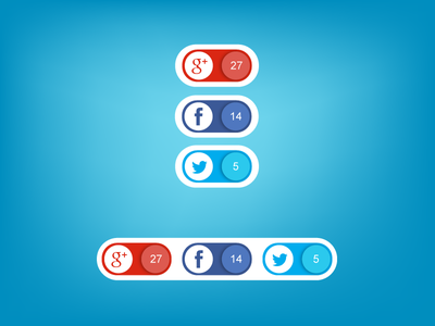 Social Buttons [Free AI] social icons ai psd download free
