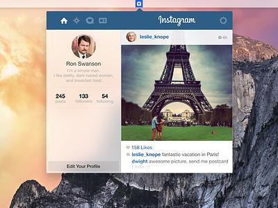 Yosemite Instagram Widget Rebound yosemite osx widget concept app instagram desktop macos