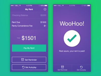Rent payment application pay payment apple screen flat app rent ios