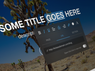 Text edit tool selection blue popover link popup tool edit text