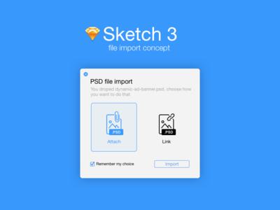 Sketch App file import concept sketch 3 desktop photoshop psd import blue concept sketchapp