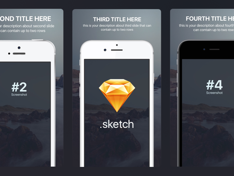 Appstore screenshots template for iphone sizes sketch freebie by dribbble preview maxwellsz