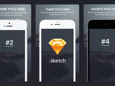Appstore screenshots template for iPhone sizes (Sketch Freebie) 6plus se phone template download free preview sketch apple ios screenshots appstore