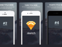 Appstore screenshots template for iPhone sizes (Sketch Freebie)