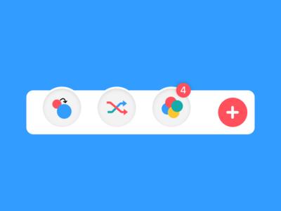Game Elements (Tab Bar) user interface red blue plus element ui ios game tabbar