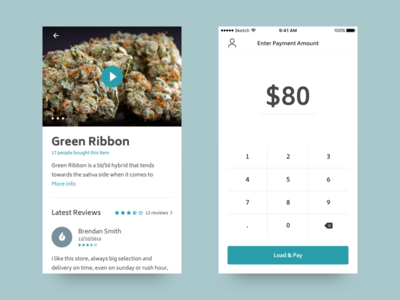 Blazenow menu item maryjane marijuana payment applications app ios mobile blazenow green