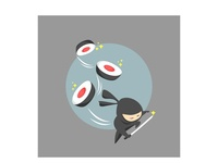 cut the sushi