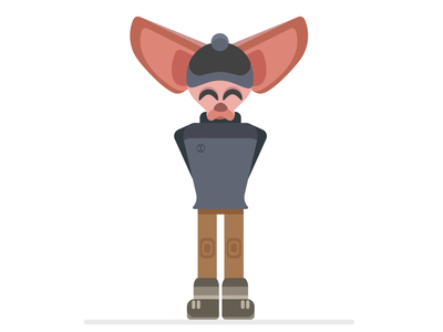 Fennec fox fennec fox fox vector 2d illustrator flat illustration