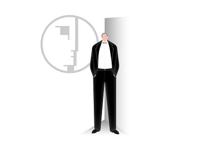 Walter Gropius gropius architecture architect minimal design 2d illustrator illustration flat vector