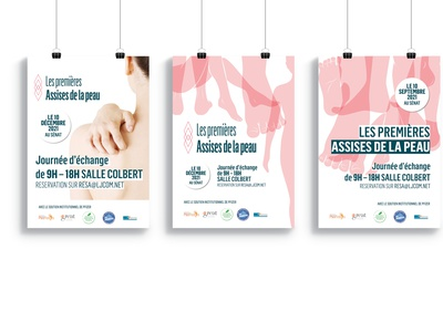 Poster for a conference about Skin minimal vector type logo poster typography skincare skin design illustration print art direction