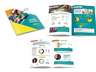 Annual report icon colorful colors report report design catalogue layout vector type flat typography design print