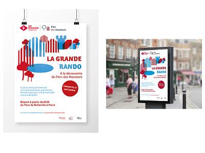La grande Rando pattern print minimal logo type icon flat poster illustration typography design