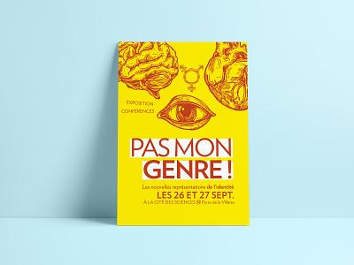 Pas mon genre ! drawing illustration print poster design typography