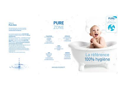 Pure Zone brochure design brochure design flyer photo type minimal logo branding typography print design