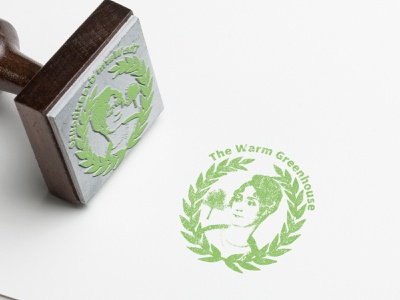 Stamp The Warm Greenhouse stamps plants stamping stamped ecology green stamp branding vector type logo icon typography flat illustration print minimal design
