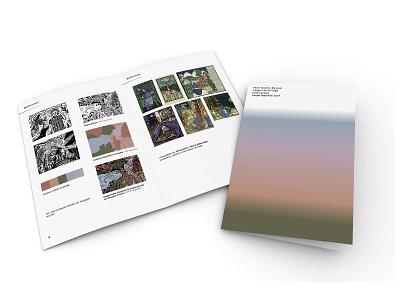 Spirit of the Taiga booklet design booklet editorial editorial design gradient design gradient gradient color design minimal typography illustration print