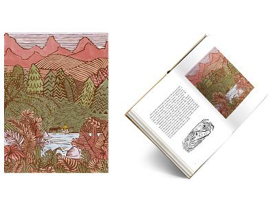 Illustration for a children book design print illustration