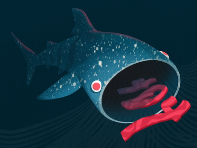 404 - Whale Shark whales ocean life marine life food eat 404 shark whale shark ocean marine mammal whale animal character characterdesign illustration