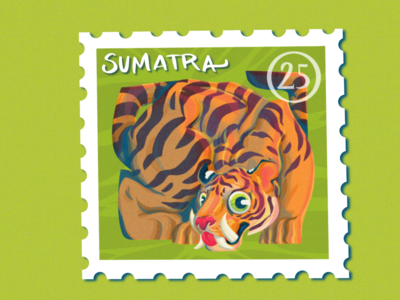Sumatran Tiger Stamp