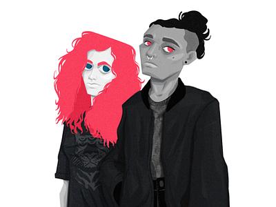 Unamused moody unamused women character woman characterdesign illustration