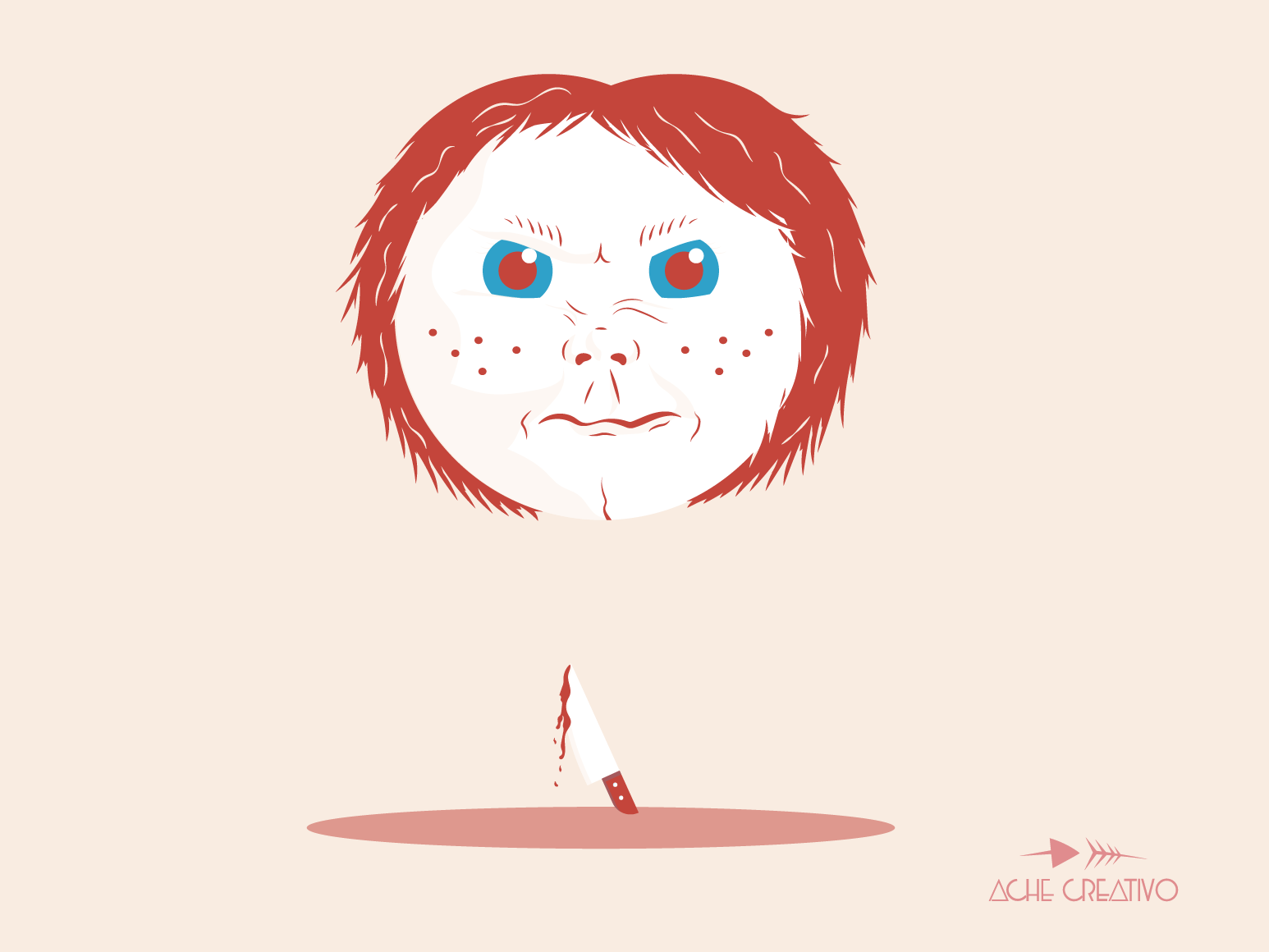 Chucky illustrator cc illustrator design chucky illustration dribbble vector horror horror movie