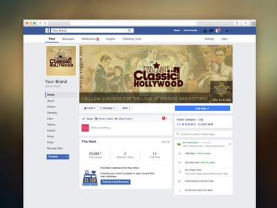 Facebook Design - Classic Hollywood