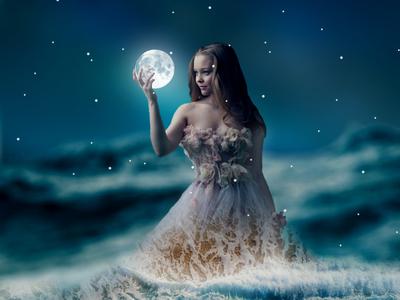 Sea and moon Magic Photo Manipulation