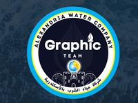 Alexandria Water Company's Graphic Team Logo Design
