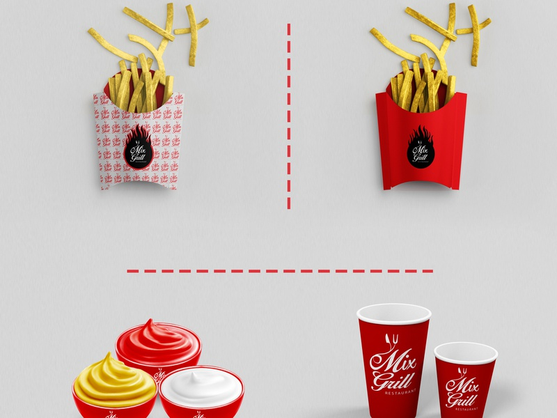 Mix Grill Restaurant Logo and Branding. restaurant fastfood food product advertising brand design branding graphic-design logo freelancer graphicdesign
