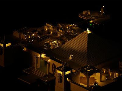 Pyramid City 3d pyramind city magicavoxel