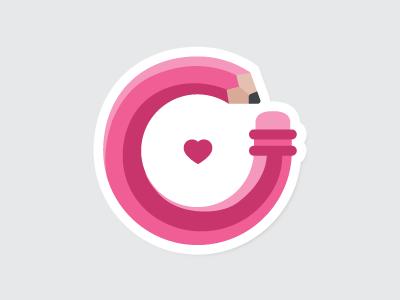 Design, Share, Love playoff icon rebound dribbble sticker