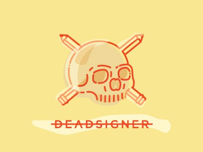 Death By Design deadsigner illustration skull death