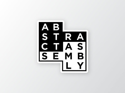 Abstract Assembly assembly abstract sticker logo