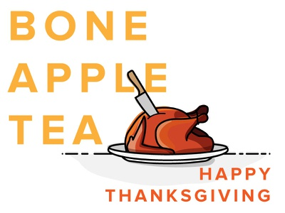 Thank you Dribbble, Bon Appetit! illustration thanksgiving turkey