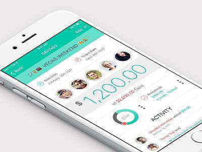 Group Saving App UI pattern ios interface ui app