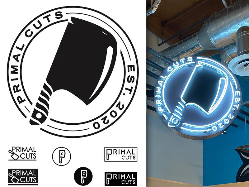 Primal Cuts Logo butcher branding logo