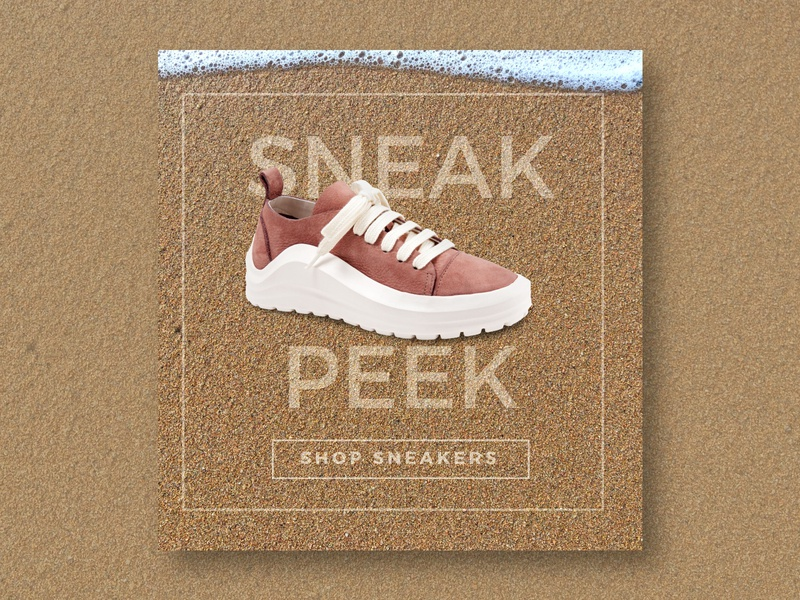 Bueno Shoes - Sneak Peek campaign emailer sneaker adveritsing shoes bueno